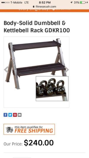 BODY SOLID KETTLEBELL WEIGHT RACK for Sale in San Diego, CA