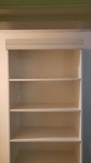 CUSTOM BUILT WHITE BOOKCASE/STORAGE UNIT for Sale in Auburndale, FL