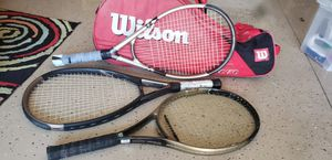3 Wilson Tennis Rackets With Large Wilson Bag for Sale in Naples, FL