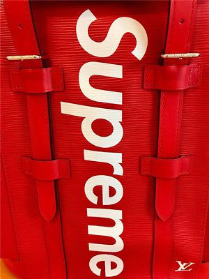 Louis Vuitton x Supreme Christopher Backpack Book Bag Red for Sale in Dallas, TX