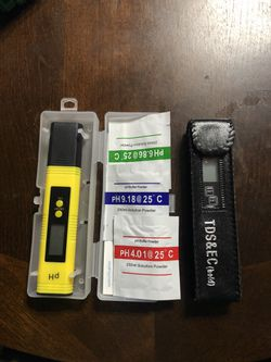 pH and TDS water tester pen 3 in 1 tdstemperat meter set for drinking water swimming pool and other for Sale in West Covina,  CA