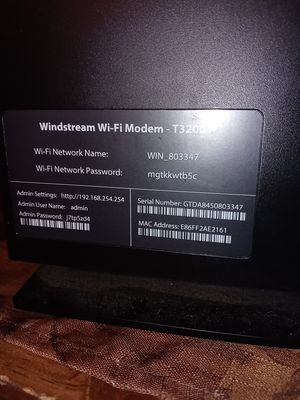 Windstream Wi-Fi modem t3200 for Sale in Fort Smith, AR