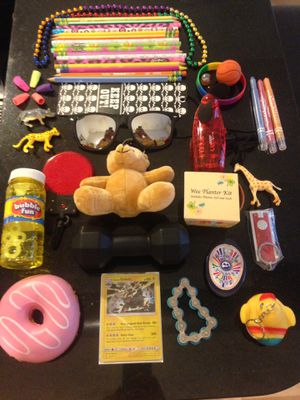 Box of small toys/prizes for kids for Sale in Denver, CO