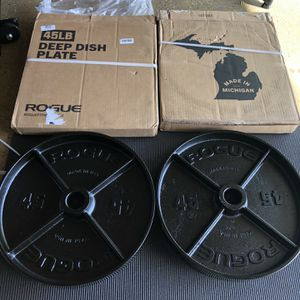 Rogue 45lb Deep Dish Made In The USA for Sale in Westminster, CA