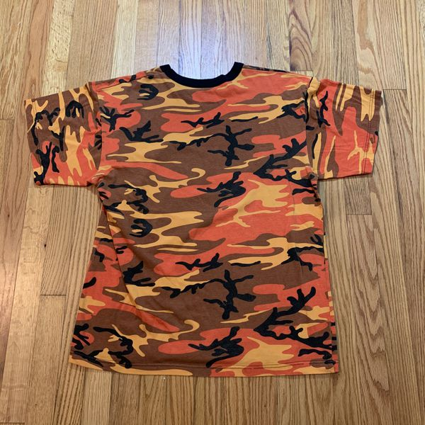 Ted Nugent Operation Thunder 2008 Concert Tour T-Shirt Mens Size XL CAMO Orange
