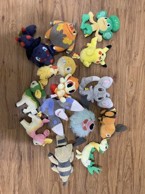 Pokemon plush toys lot for Sale in Santa Clara, CA