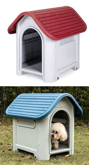 "New $45 Plastic Dog House Small/Medium Pet Indoor Outdoor All Weather Shelter Cage Kennel 30x23x26"" for Sale in Whittier, CA"