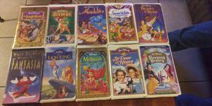 Disney VHS Videos ( lot of 10 ) for Sale in Phoenix, AZ