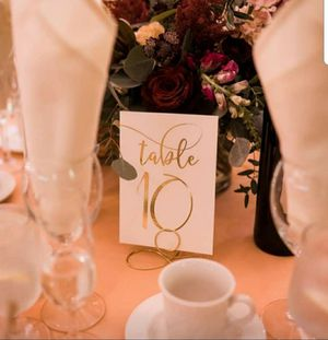 Event/Wedding Table Numbers for Sale in Sturbridge, MA