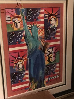 Peter Max media art/Statue of Liberty for Sale in Alexandria, VA