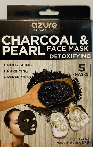 Charcoal & pearl Detoxifying face mask for Sale in Staten Island, NY