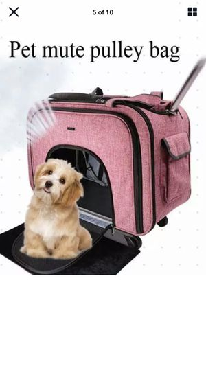 Carry Cart Draw-bar Box Dog Stroller Carrier Pet Travelling Dog Pet for Sale in Palmdale, CA