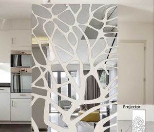 100 x 45 cm Wall Adhesive Sticker Reflective Mirror Design Home Decor, Wall Decor for Living Room, Bedroom for Sale in Los Angeles, CA