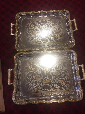 Gold and silver trays for Sale in VA, US