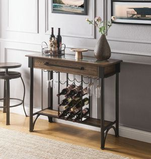 weizor Bar table w/ storage shelves $249.00. In stock! Free delivery 🚚 for Sale in Ontario, CA