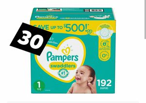 Size 1 pampers 192 count new im box for Sale in Dale, TX