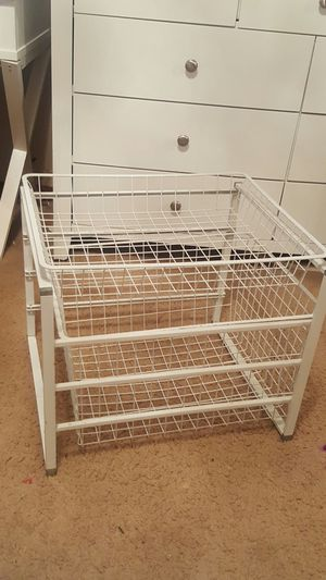 Metal organizer with 2 baskets for Sale in Norwalk, CA