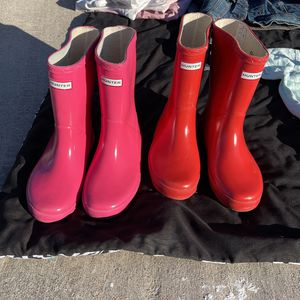 Two Pairs Of Hunter Rain Boots for Sale in Las Vegas, NV