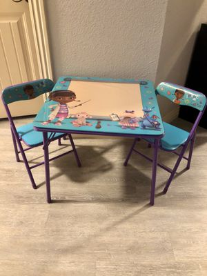 Doc McStuffins Kids Activity Table & Chair Set for Sale in Cave Springs, AR