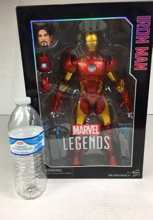 Marvel legends Iron Man 12 inch figurine avengers Captain America Spiderman Black Panther Thanos wonder woman for Sale in La Habra, CA