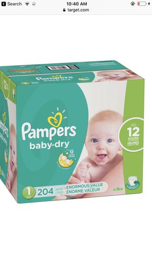 Cases of pampers all sizes $20.00 amazing deal for Sale in Saint Paul, MN