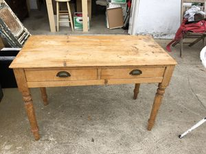 1900's Pine Farmhouse Table for Sale in San Diego, CA