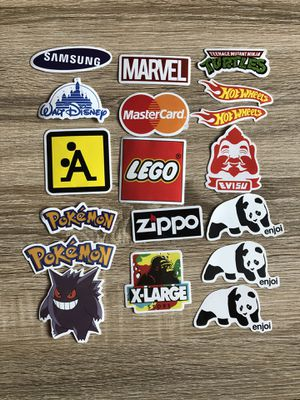 Company Brand Stickers Pokemon, LEGO,Marvel,Zippo for Sale in North Ridgeville, OH