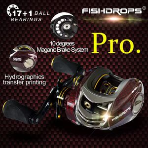 FishdropsPRO BC150 18 Ball Bearings Baitcasting Reels Right Left Hand Metal Fishing Bait Casting Reel with One Way Clutch 4-7 day shipping USA for Sale in Sandusky, OH