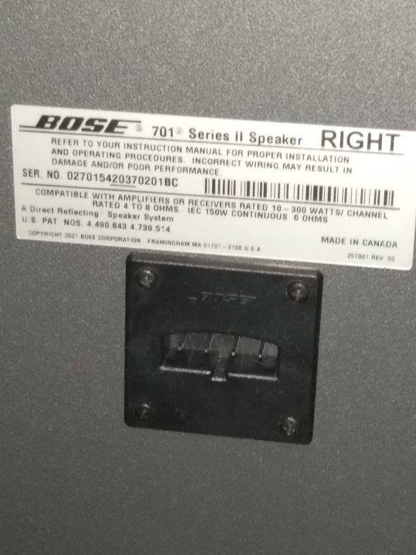 Bose 701 series 2 speakers