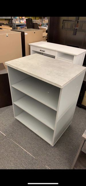 Gray Cabinet (Adjustable Shelf, new Already Assembled!!) for Sale in Houston, TX