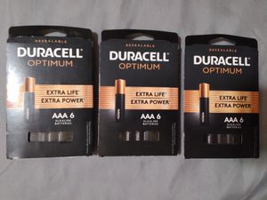 Duracell Optimum AAA batteries for Sale in St. Cloud, MN
