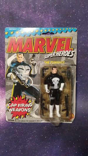 1990 Marvel Super Heroes The Punisher cap firing weapon action figures toy for Sale in Dallas, TX