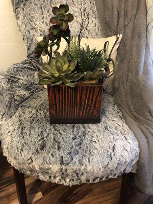 Faux succulent arrangement for Sale in Revere, MA