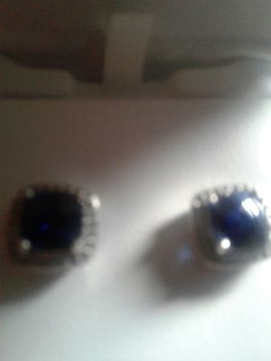 Sapphire and Diamond ear rings for Sale in Rockville, MD