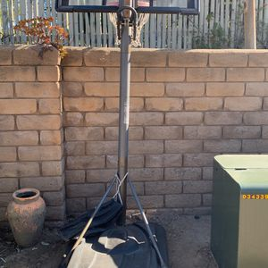 Free - Basketball Hoop...needs New Background But Base And Adjustable Pole Work Well for Sale in Escondido, CA