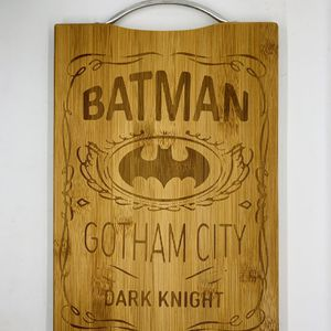 Batman laser engraved bamboo high quality cuttingboard valentines gift for Sale in Los Angeles, CA