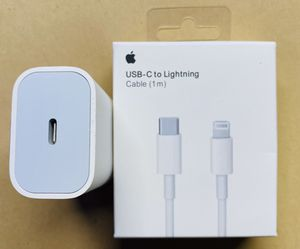 Apple usb-c to lightning cable and adapter from iPhone 11 max pro//brand new! for Sale in Downers Grove, IL