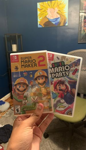 Super Mario maker 2 and Mario party for Sale in Frederick, MD