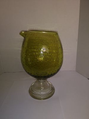 Vintage crystal blown glass decater with spout for Sale in San Leandro, CA