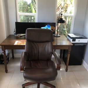 """""""Executive Lazy Boy Brown Leather Office Chair"""" for Sale in Fort Lauderdale, FL"""