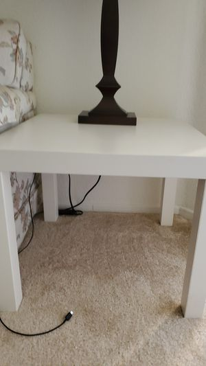 2 ikea white side tables for Sale in Irvine, CA