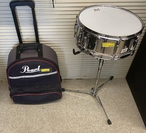 Pearl brand snare drum with case for Sale in Jackson, MS