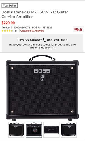 Boss Katana guitar amplifier for Sale in Compton, CA