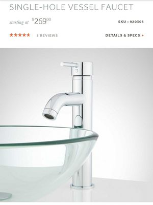 ROTUNDA CURVED SPOUT SINGLE-HOLE VESSEL FAUCET for Sale in Kent, WA