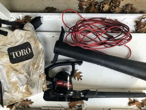 Toro leaf blower with long electric cord for Sale in Portland, OR