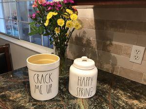 Rae Dunn Crack Me Up Crock / Happy Spring Canister Set for Sale in Sanger, CA