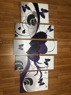5 piece wall art canvas for Sale in Margate, FL