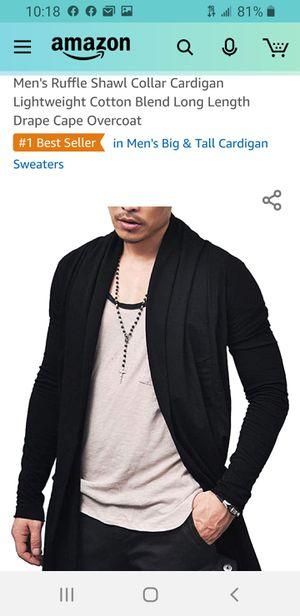 Men's ruffle shawl cardigan for Sale in Las Vegas, NV
