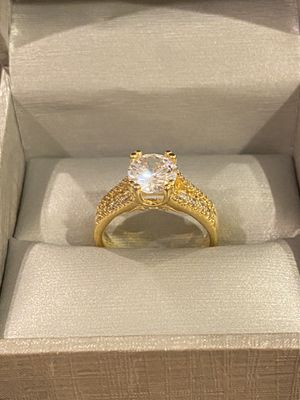18K Gold plated Solitaire Ring- Code DB51 for Sale in Washington, DC