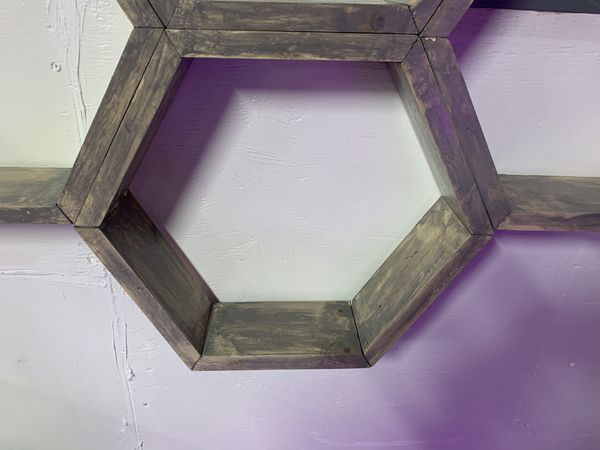 Custom Hexagon Wall Shelves